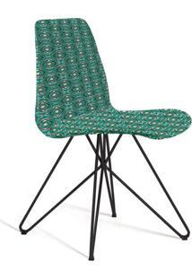Cadeira De Jantar Eames Butterfly Verde E Cinza