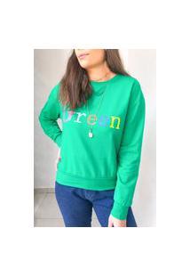 Blusa Moletom Colors - Verde