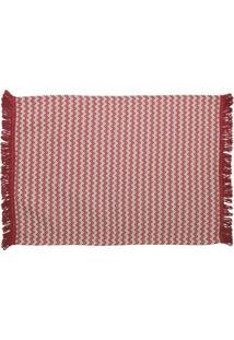 Tapete De Cozinha Campestre Algodão 150X50 Vermelho