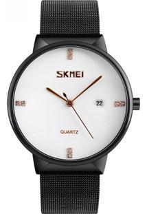 Relógio Skmei Analógico 9164 Preto E Branco