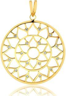Pingente Toque De Joia Mandala Ponto De Luz - Feminino-Dourado