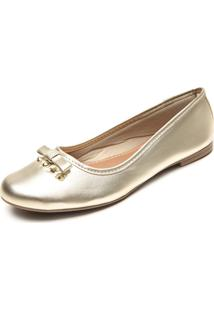 Sapatilha Dafiti Shoes Tachas Dourada