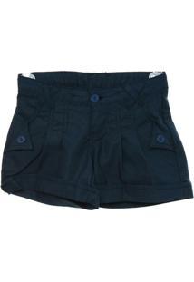 Shorts Piquet - Feminino-Marinho