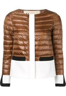 Herno Panelled Puffer Jacket - Marrom