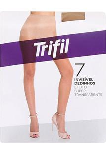 Meia Calça Trifil Dedinhos Fio 7 Feminina - Feminino-Marrom Claro