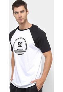 Camiseta Dc Shoes Especial Pack Raglan Masculina - Masculino-Branco