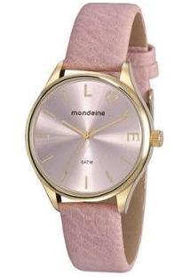 Relógio Feminino Mondaine Analógico - 76743Lpmvdh1 - Feminino-Rosa