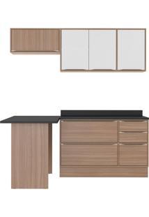 Cozinha Compacta Senel 6 Pt 3 Gv Branco E Nogueira