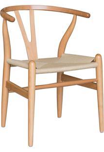 Cadeira De Madeira Valentina -Rivatti - Marrom Claro