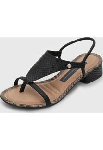 Sandália Dakota Texturizada Preta