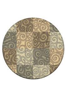 Tapete Love Decor Redondo Wevans Classic Multicolorido 84Cm
