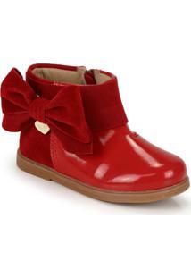 Ankle Boots Infantil Klin Vermelho
