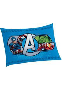 Fronha Avengersâ®- Azul & Vermelha- 70X50Cm- Lepplepper