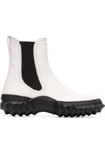 Marni Ankle Boot De Couro - Preto