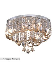 Plafon Com Ornamentos Retorcidos- Cristal & ÂMbar- 3Hevvy
