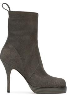 Rick Owens Ankle Boot De Camurça - Cinza