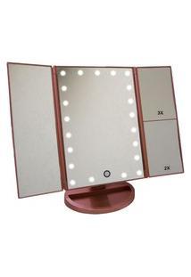 Espelho Articulado Para Maquiagem Weily Mirror C/ Iluminaçáo De Led Rose