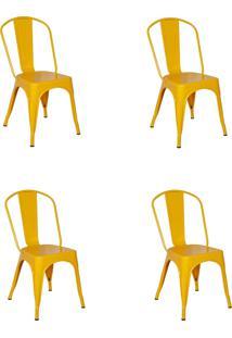 Cadeira E Banco De Jantar Impã©Rio Brazil - Amarelo/Incolor - Dafiti