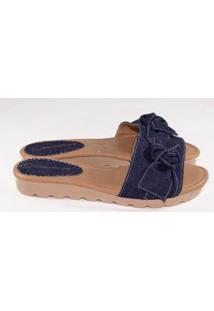 Tamanco Gomes Shoes Tratorada Tamanco Feminina - Feminino-Azul