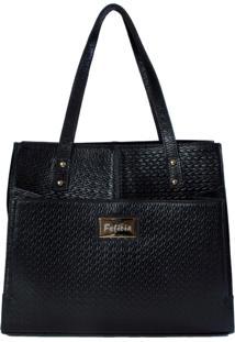Bolsa Felícia Couro 555 Tresse Preta