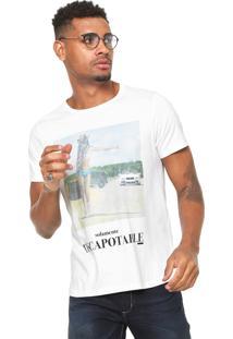 Camiseta Sergio K Descapotable Branca