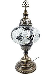Luminária Turca Em Mosaico 37Cm