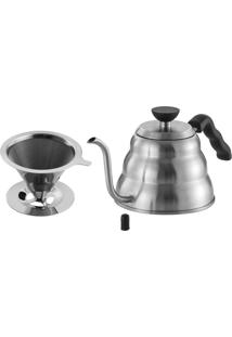 Chaleira Colmeia, Bico Fino, Buono Cafe Com Filtro Inox
