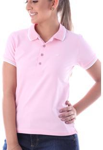 Camisa Polo Cp0723 Rosa Claro Traymon Modelagem Slim