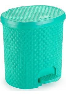Lixeira Para Cozinha De Plã¡Stico 6 Litros Com Pedal Verde - Transparente - Dafiti