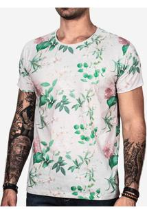 Camiseta Floral Cinza 100891