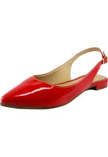 Sapatilha Dalid Bico Fino Chanel Vermelho