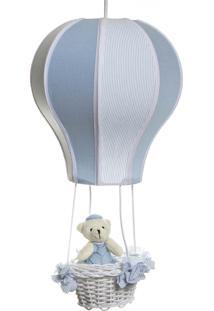 Lustre Balão Cintura Urso Potinho De Mel Azul