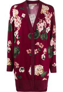 Twin-Set Cardigan Com Estampa Floral - Roxo