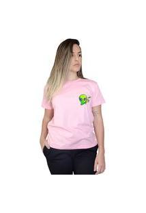 Camiseta Boutique Judith Alien Boss Rosa