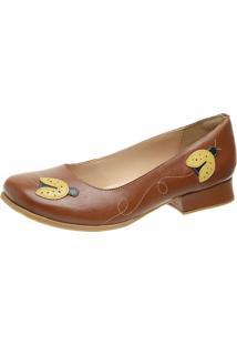 Sapato Retrô Salto Grosso Dhl Feminino Marrom - Kanui