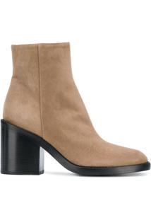 Ann Demeulemeester Ankle Boot 'Tedy' De Camurça - Neutro