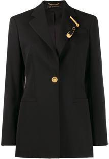 Versace Tailored Long-Length Blazer - Preto