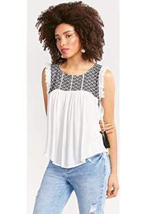 Regata Off White Plus Size feminina  3ee5198ebef