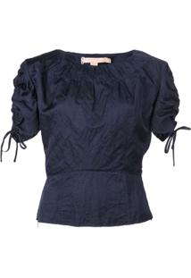 Brock Collection Blusa Com Franzido - Azul