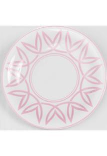 Prato Para Sobremesa Porcelana Schmidt - Dec. Helena Rosa
