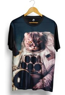 Camiseta Bsc Cat Space Full Print - Masculino