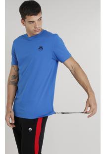 Camiseta Masculina Kings Sneakers Com Chaveiro Manga Curta Gola Careca Azul Royal