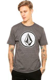 Camiseta Volcom Classic Stone Cinza