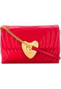 Escada Bolsa Tiracolo Com Coração Matelassê - Vermelho