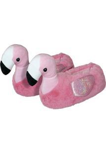 Pantufa Damannu Shoes Feminina Adulto Flamingo Rosa