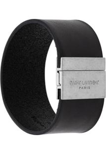 Saint Laurent Logo Cuff - Preto