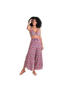 Calça Pareô Bali - Rosa - Líquido