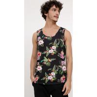 Regata Estampada Floral masculina  16059f30693