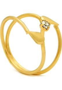 Anel D'Gotas Horus Import Cristal Dourado