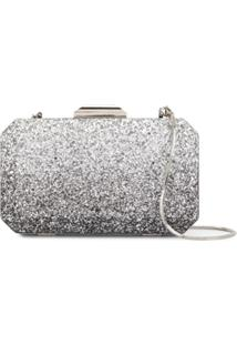The Chic Initiative Clutch Diyala Com Glitter - Prateado